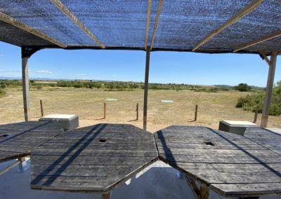 Mesas y toldo EagleDron campo de vuelo escuela piloto de drones Valencia